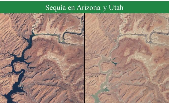 Evolución sequía reserva elephant Butte